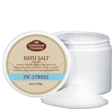 De-Stress Therapeuic Mineral Bath Salt - 150ml Made with Pure Essential Oils