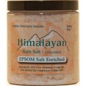 Himalayan Salt Bath Salt - 40% Epsom Salt Enriched - 710ml