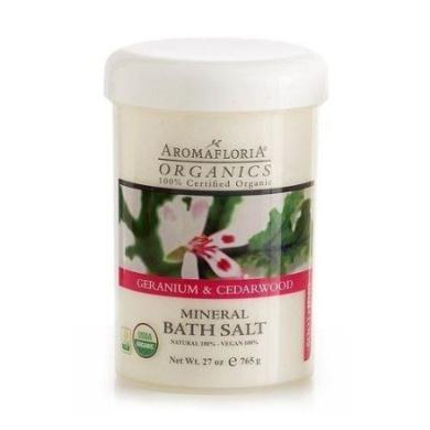 Aromafloria Organics Geranium & Cedarwood - Soothing Bath Minerals And Salts