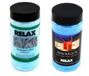 Eucalyptus Mint & Sex On The Beach Aromatherapy Bath, Spa Salts & Crystals-17 Oz Bottles- Soak Aches, Pains & Stress Relief