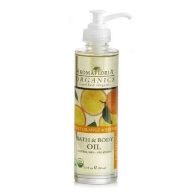 Aromafloria Organics Sweet Orange & Vetiver - Calming Bath Oils