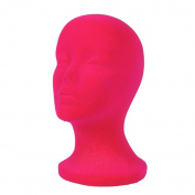A1Pacific 28cm PINK Velvet STYROFOAM FOAM MANNEQUIN MANIKIN head wig display hat glasses