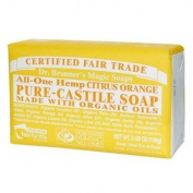 Dr. Bronner'S Citrus Orange Organic Bar Soaps Pure Castile