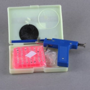 Ostart Pro Steel Ear Nose Navel Body Piercing Gun + 98pcs Round Studs Tool Kit Set