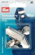 PRYM 416410 Dungarees/Overall .ttings Size 30mm steel silver-coloured, 2 pieces