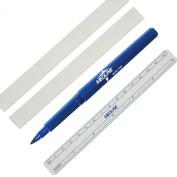 Medline Sterile Surgical Skin Markers Tattoo Piercing Ruler Blue Tip Disposable