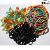 100pcs Tattoo Grommets Needle Pad + 100pcs Rubber Band +100pcs O-Ring