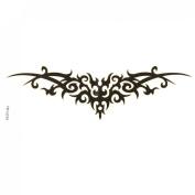 Rosallini Black Symmetrical Design Transfer Tribal Tattoos Seal Skin Beauty Decal
