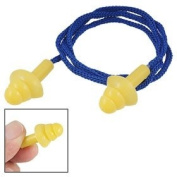 Quiet Reusable Blue Nylon String Yellow Silicone Earplugs