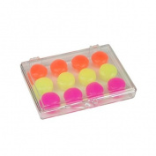 Ezy Care Children's Silicone Ear Plugs - 6 Pair with Carrying Case