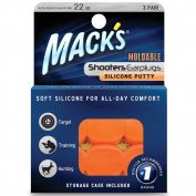Mack's® Shooters Moldable Silicone Putty Earplugs - 3 Pair