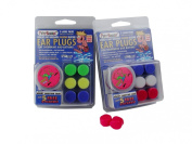 3-Pair Pack of PUTTY BUDDIES Floating Formula Soft Silicone Ear Plugs for Swimming/ Bathing