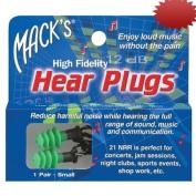 Macks Original Style Hear Plugs - 1 Pair, Size Small,
