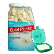 Flents Quiet Please Foam Ear Plugs (100 Pair) with a Green Flents Container - A 4.98 Value - Nrr29