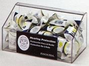 Horizon Manufacturing 5137 60-Pair Foam Ear Plug Tray Dispenser No Lid - Clear Plastic