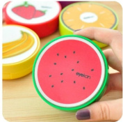 New Cute Fruit Print Plastic Contact Lens Mate Box with Mirror