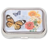 Butterfly Flora Designer Contact Lens Case