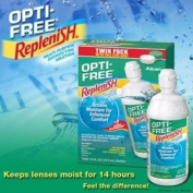 Opti Free Replenish Multi Purpose Contact Solution, 410ml, 2 Ct