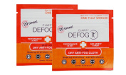 Clarity Defog It Anti-fog 2 Dry Reusable Wipes in Reclosable Package