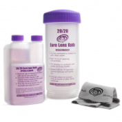 2020 Euro Lens Bath - Unique Eyeglass Cleaner- One-of-a-kind Complete Starter Kit (Washer, Solution, & Microfiber Cleaning Cloth)Simply place glasses in our patented washer & shake