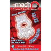 """Brand New Macho Crystal Coll Double Ring (Clear) """"Item Type"""