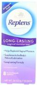 Restores vaginal moisture - Replens Long-lasting Vaginal Moisturiser, 8 Pre-filled Applicators