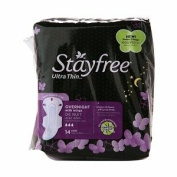 Stayfree Ultra Thin Pads with Wings, Overnight, 14 ea, 1 ea
