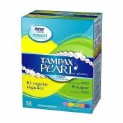 Tampax Pearl Plastic Duopack, Regular/Super, Unscented 18 Ct