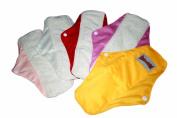 "4 Bamboo Mama Cloth/ Menstrual Pads/ Reusable & Water proof Sanitary Pads / Panty Liners by ""BubuBibi"""