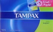 Tampax + 5 Trial Pack - 105 ct Tampax pearl