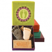Fair Trade Gift Set - Happy Feet Pumice Stone, Foot Brush and Soap