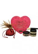 Bundle Sweet Heart Box Strawberry and Aloe Cadabra Organic Lube Vanilla 70ml