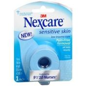 Nexcare Sensitve Skin Low Trauma Tape, 3.8cm . x 460cm . (5 yd.), 2.5cm x 370cm , 1 ea