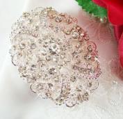 Crystal Vintage Oval Bridal Brooch