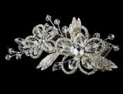 Bridal Comb. Crystal & Rhinestones Silver Hair Comb