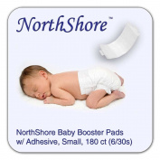 NorthShore Disposable Baby Nappy Doubler w/ Adhesive, Small, Case/180