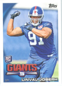 2010 Topps NFL Football Card # 138 Linval Joseph RC - New York Giants ( Rookie Card) NFL Trading Card