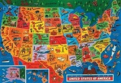 USA Map Jigsaw Puzzle by James Hamilton Grovely by James Hamilton