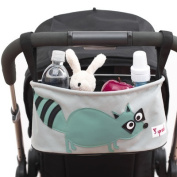 3 Sprouts Stroller Organizer - Raccoon