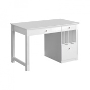 Deluxe Solid Wood Desk - White