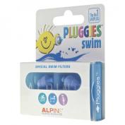 Alpine Pluggies Kids Swim Earplugs - Blue