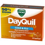 DayQuil Cold & Flu Multi-Sympton Relief - 24 LiquiCaps24 CT LIQUICAPS