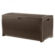 Suncast Resin Wicker Deck Box - Brown