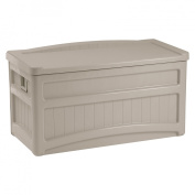 Suncast Deck Box with Seat and Wheels Taupe - 73 Gallon