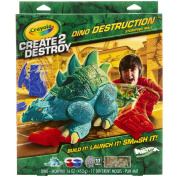 Crayola Create 2 Destroy Dino Destruction Play Set, Stomping Mall