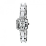Peugeot Women's Acrylic Link Crystal Accented Watch - Silver/White