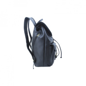 Leatherbay Leather Backpack With Pockets - Black