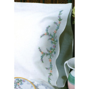 Stamped Pillowcase Pair 50cm x 80cm For Embroidery-Reflections
