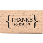 American Crafts 59025 American Crafts Mounted Rubber Stamp 5.7cm . x 3.2cm .-Thanks So Much
