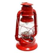 Gerson 41467 - 29cm x 18cm Red Metal 17 LED Hurricane Lantern